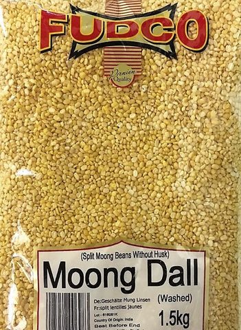 Fudco Moong Dall Washed 1.5 KG - Sabadda - Indian Online Grocery Store in UK