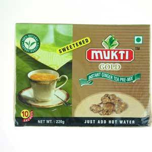 Mukti Gold Instant Ginger Tea Pre-Mix 10 Sachets - Sabadda - Indian Online Grocery Store in UK