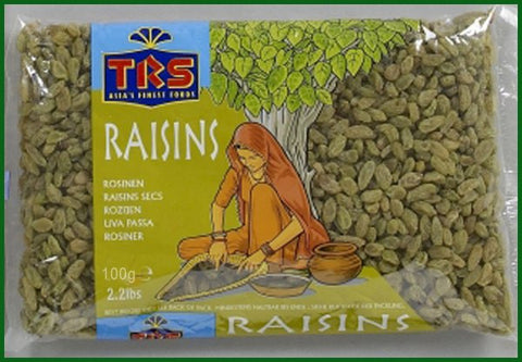 TRS Raisins Green (Chinese) 100 gm - Sabadda - Indian Online Grocery Store in UK