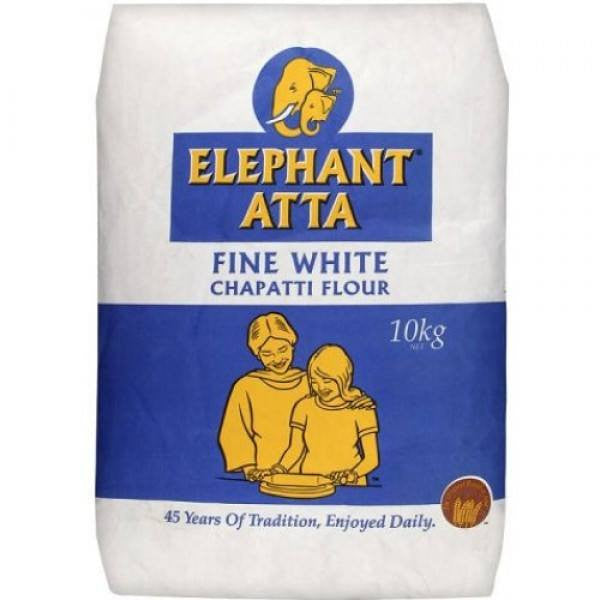 Elephant Atta Fine White Chapatti Flour 10 kg - Sabadda - Indian Online Grocery Store in UK