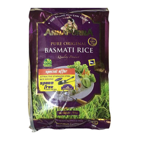 Annapurna Basmati Rice 10 kg Default Title - Sabadda - Indian Online Grocery Store in UK
