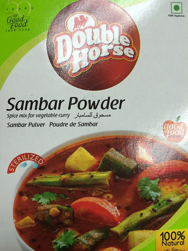 Double Horse Sambar Powder 200 gm - Sabadda - Indian Online Grocery Store in UK