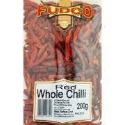 Fudco Red Whole Chilli 200 gm Default Title - Sabadda - Indian Online Grocery Store in UK