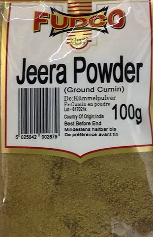 Fudco Jeera Powder Ground Cumin 100 GM - Sabadda - Indian Online Grocery Store in UK