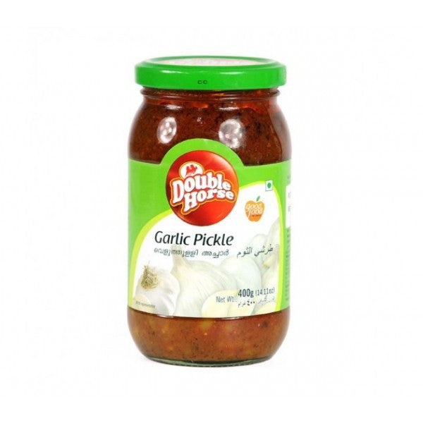 Double Horse Garlic Pickle 400 gm - Sabadda - Indian Online Grocery Store in UK