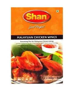 Shan Malaysian Chicken Wings Seasoning Mix 40 gm - Sabadda - Indian Online Grocery Store in UK