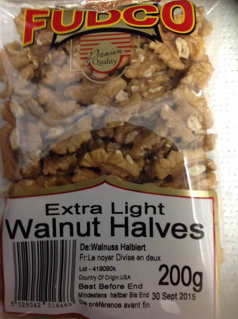 Fudco Extra Light Walnut Halves 200 gm - Sabadda - Indian Online Grocery Store in UK