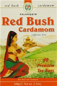Palanquin Red Bush Cardamom Tea 40 Sachets - Sabadda - Indian Online Grocery Store in UK