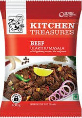 Kitchen Treasures Beef Ularthu Masala 100 gm - Sabadda - Indian Online Grocery Store in UK