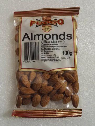 Supreme Almonds 100 GM Default Title - Sabadda - Indian Online Grocery Store in UK