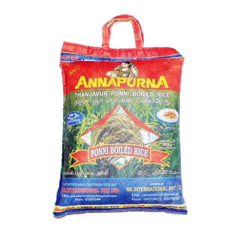 Annapurna Ponni Boiled Rice 10 kg - Sabadda - Indian Online Grocery Store in UK