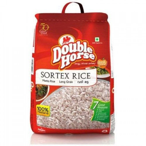 Double Horse Sortex Rice Matta Rice Long Grain 10 kg - Sabadda - Indian Online Grocery Store in UK