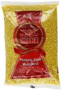 Heera Moong Dal Washed 500gm - Sabadda - Indian Online Grocery Store in UK
