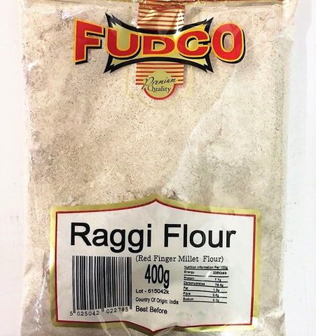 Fudco Raggi Flour Red Millet Flour 400 GM - Sabadda - Indian Online Grocery Store in UK