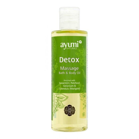 Ayumi Naturals Detox Massage Bath & Body Oil 250 ml - Sabadda - Indian Online Grocery Store in UK