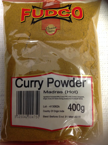 Fudco Curry Powder Madras Hot 400 gm - Sabadda - Indian Online Grocery Store in UK