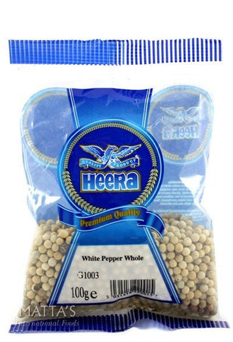 Heera White Pepper Whole 100 gm Default Title - Sabadda - Indian Online Grocery Store in UK
