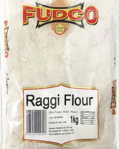 Fudco Raggi Flour Red Millet Flour 1 KG - Sabadda - Indian Online Grocery Store in UK