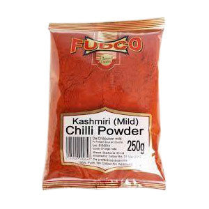 Fudco Kashmiri (Mild) Chilli Powder 250 gm - Sabadda - Indian Online Grocery Store in UK