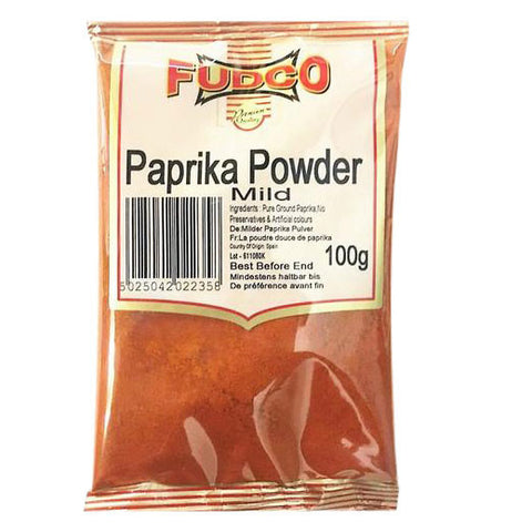 Fudco Paprika Powder Mild 100 gm - Sabadda - Indian Online Grocery Store in UK