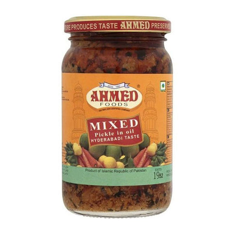 Ahmed Mixed Pickle Hyderabadi 330 gm - Sabadda - Indian Online Grocery Store in UK