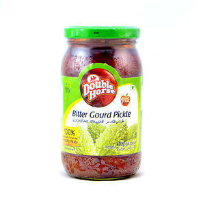 Double Horse Bitter Gourd Pickle 400 gm Default Title - Sabadda - Indian Online Grocery Store in UK
