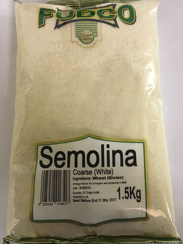 Fudco Semolina Coarse White 1.5 KG - Sabadda - Indian Online Grocery Store in UK