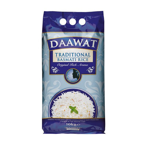 Daawat Traditional Basmati Rice 10 kg Default Title - Sabadda - Indian Online Grocery Store in UK