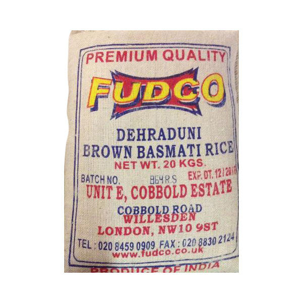 Fudco Dehraduni Brown Basmati Rice 20 kg - Sabadda - Indian Online Grocery Store in UK