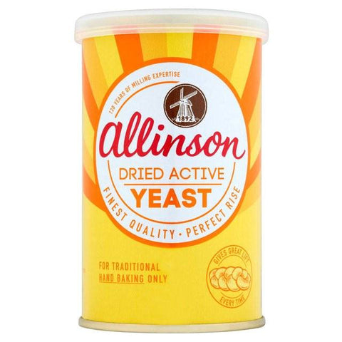 Allinson Dried Yeast Tin 125 gm Default Title - Sabadda - Indian Online Grocery Store in UK