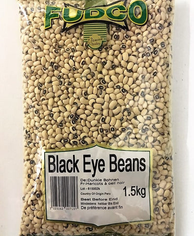 Fudco Black Eye Beans 1.5 KG Default Title - Sabadda - Indian Online Grocery Store in UK