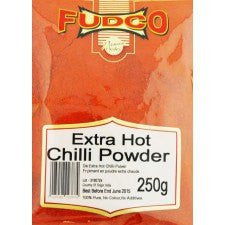 Fudco Extra Hot Chilli Powder 250 GM - Sabadda - Indian Online Grocery Store in UK