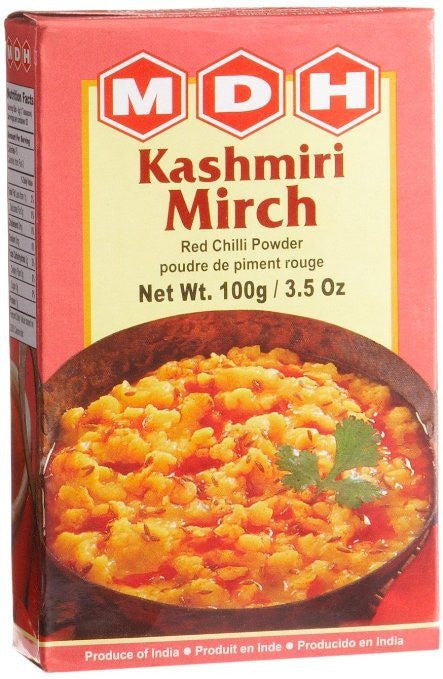 MDH Kashmiri Mirch Red Chilli Powder 100 gm - Sabadda - Indian Online Grocery Store in UK