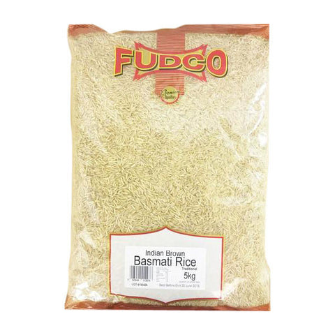 Fudco Indian Brown Basmati Rice Traditional 5 kg Default Title - Sabadda - Indian Online Grocery Store in UK