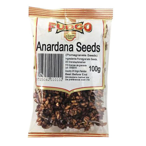 Fudco Anardana Seeds (Pomegranate Seeds) 100 gm - Sabadda - Indian Online Grocery Store in UK