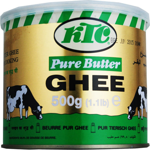 KTC Pure Butter Ghee (Tin} 500 gm - Sabadda - Indian Online Grocery Store in UK