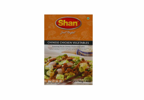Shan Chinese Chicken Vegetables Seasoning Mix 40 gm - Sabadda - Indian Online Grocery Store in UK