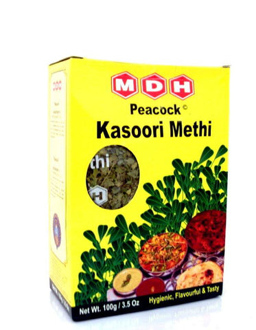 MDH Peacock Kasoori Metri Leaves 100 gm - Sabadda - Indian Online Grocery Store in UK
