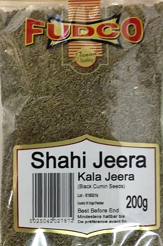 Fudco Shahi Jeera Kala Jeera Black Cumin Seeds 200 GM - Sabadda - Indian Online Grocery Store in UK