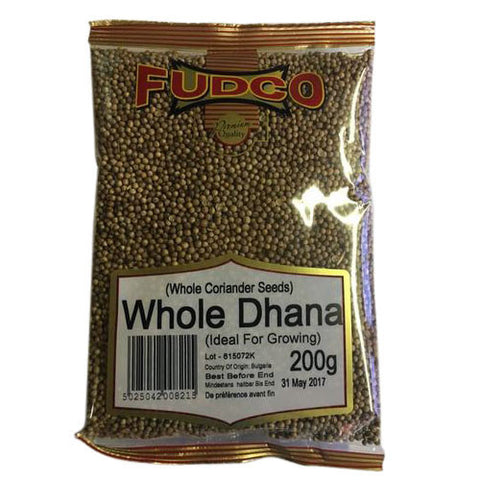 Fudco Whole Dhana (Whole Coriander Seeds) 200 gm - Sabadda - Indian Online Grocery Store in UK