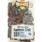 Fudco Whole Mild Kashmiri Chilli 100 GM - Sabadda - Indian Online Grocery Store in UK