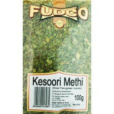 Fudco Kesoori Methi Dried Fenugreek Leaves 100 gm - Sabadda - Indian Online Grocery Store in UK