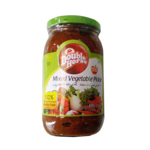 Double Horse Mixed Vegetable Pickle 400 gm - Sabadda - Indian Online Grocery Store in UK