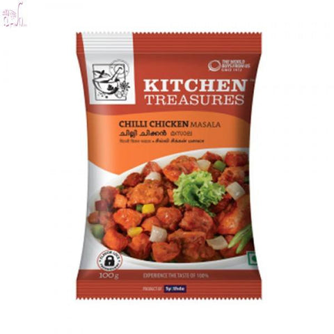 Kitchen Treasures Chilli Chiken Masala 100 gm Default Title - Sabadda - Indian Online Grocery Store in UK