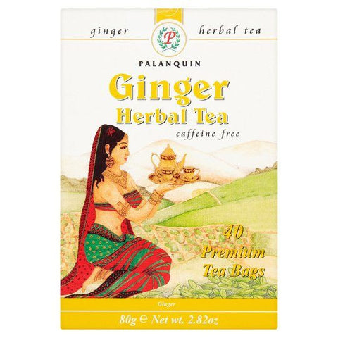 Palanquin Ginger Herbal Tea 40 Sachets - Sabadda - Indian Online Grocery Store in UK