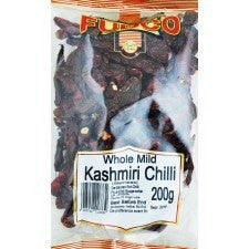 Fudco Whole Mild Kashmiri Chilli 200 GM - Sabadda - Indian Online Grocery Store in UK