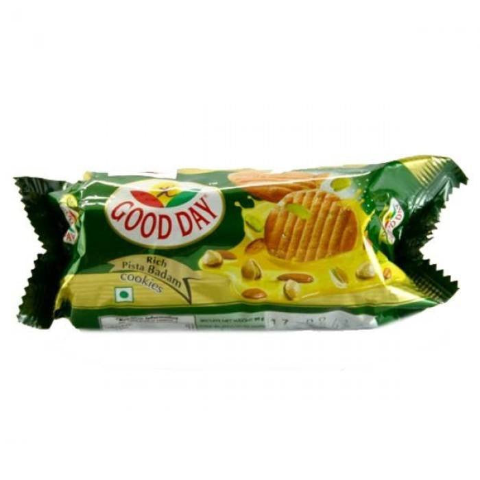 Britannia Good Day Rich Pista Badam Cookies 90 gm - Sabadda - Indian Online Grocery Store in UK