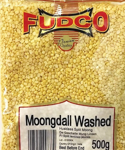 Fudco Moong Dall Washed 500 GM - Sabadda - Indian Online Grocery Store in UK