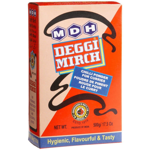 MDH Deggi Mirch Chilli Powder 500 gm - Sabadda - Indian Online Grocery Store in UK
