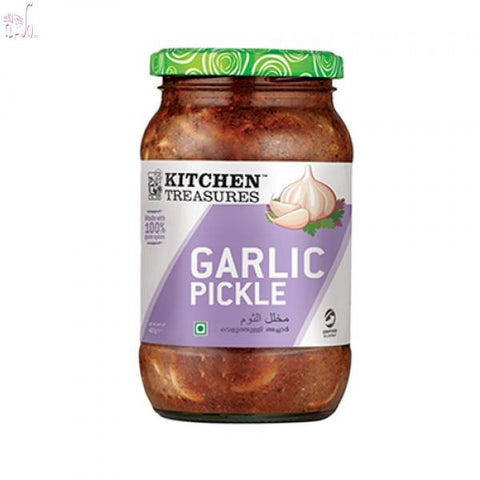 Kitchen Treasures Garlic Pickle 400 gm - Sabadda - Indian Online Grocery Store in UK